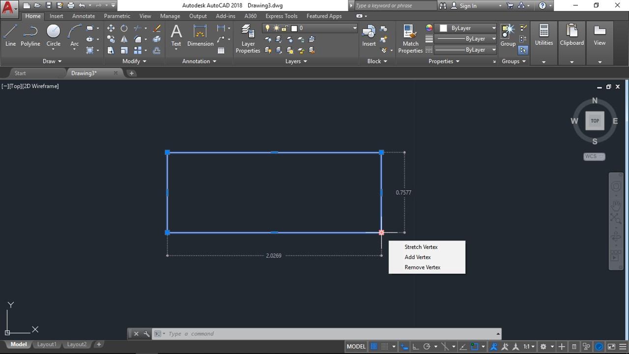 Visualizar y configurar los parámetros de cotas en la edición en AutoCad Drawing with Cad